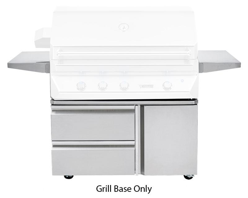 "Twin Eagles 42"" Grill Base w/ Storage Drawers, Single Door - Premier Grilling"