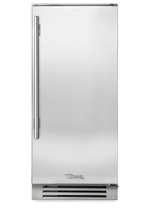 "True Residential 15"" Stainless Steel Ice Machine w/ Clear Door, Right Hinge - Premier Grilling"