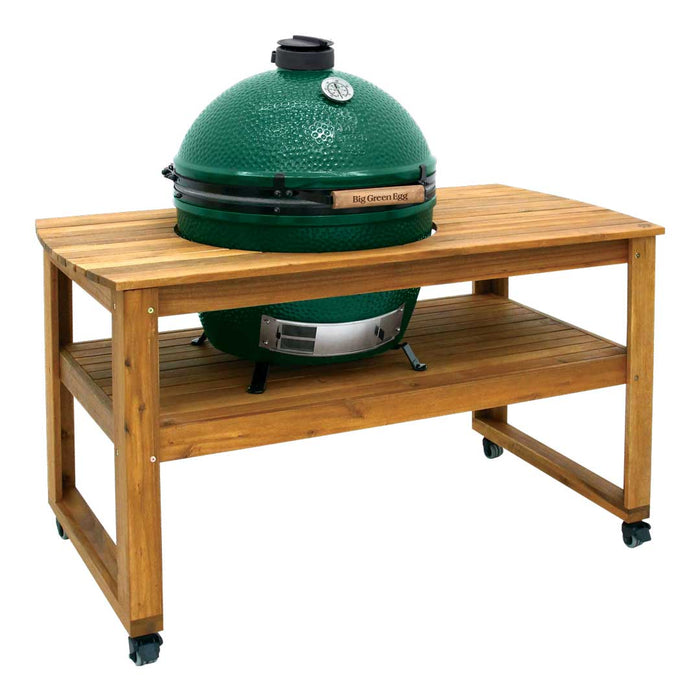 Big Green Egg Solid Acacia Hardwood Table