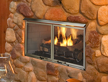 "Heatilator 42"" Majestic Villa Outdoor Gas Fireplace, Natural Gas - Premier Grilling"