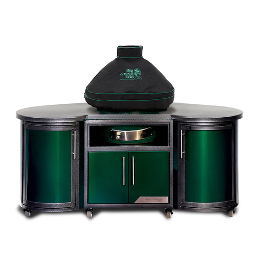 Big Green Egg Venitlated Dome Cover w/ Piping & Handle for Built-In Eggs - Premier Grilling