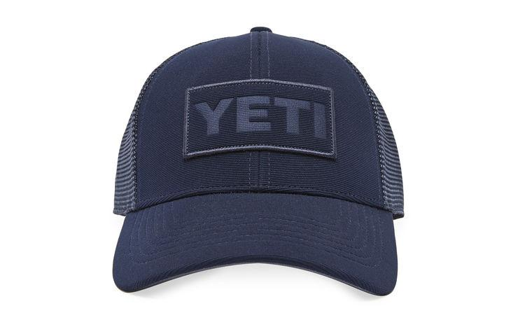 YETI Navy on Navy Trucker Hat - Premier Grilling