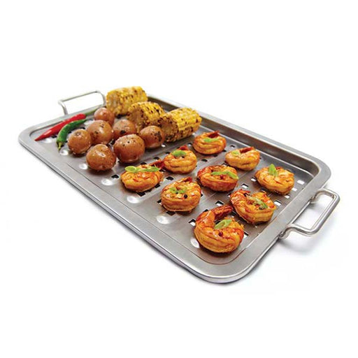 "Broil King 16"" x 11"" Stainless Topper - Premier Grilling"