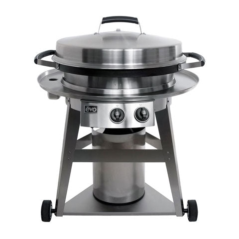 Evo Pro Wheeled Cart w/ Seasoned Cooking Surface - Premier Grilling