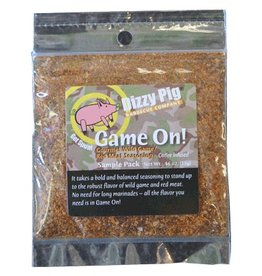 Dizzy Pig Game On! Wild Game Seasoning (Sample) - Premier Grilling