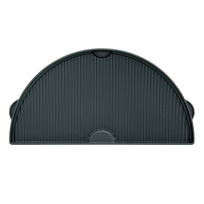 Big Green Egg Half-Moon Cast Iron Dual Side Plancha Griddle (2XL, XL, L) - Premier Grilling