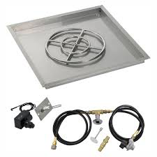 "HPC 30"" Square Drop-In Pan with Spark Ignition Kit (18"" Fire Pit Ring) - Premier Grilling"