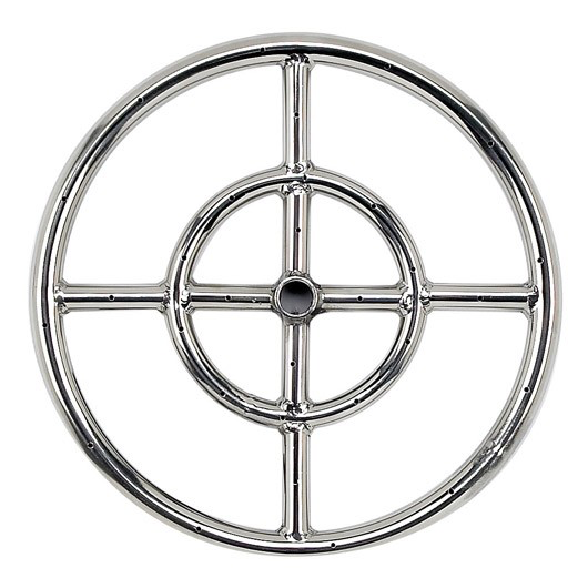 "HPC 12"" Double-Ring Stainless Steel Burner w/ 1/2"" Inlet - Premier Grilling"