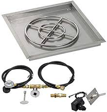 "HPC 24"" Square Drop-In Pan w/ Spark Ignition Kit (18"" Fire Pit Ring) - Premier Grilling"