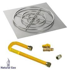 "HPC 36"" High Capacity Square Flat Pan w/ Match Lite Kit (30"" Ring), Natural Gas - Premier Grilling"