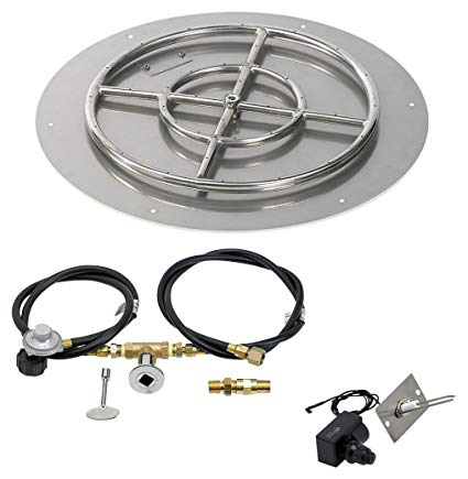 "HPC 24"" Round Flat Pan w/ Spark Ignition Kit (18"" Ring) - Premier Grilling"