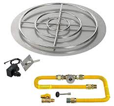 "HPC 36"" High Capacity Round Flat Pan w/ Spark Ignition Kit (30"" Ring), Natural Gas - Premier Grilling"