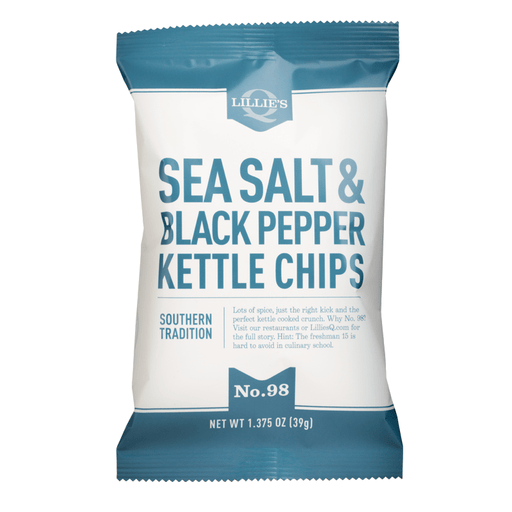 Lillie's Q Sea Salt & Black Pepper Kettle Chips