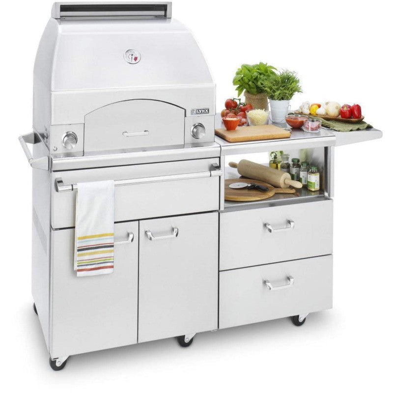 "Lynx Napoli Outdoor Oven & 54"" Mobile Kitchen Cart - Premier Grilling"