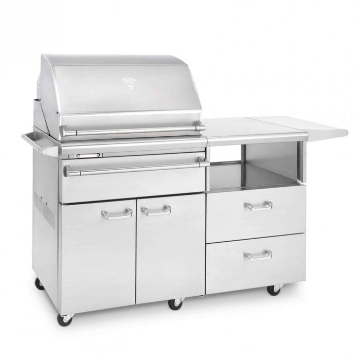 "Lynx 30"" Smoker on 54"" Mobile Kitchen Cart - Premier Grilling"