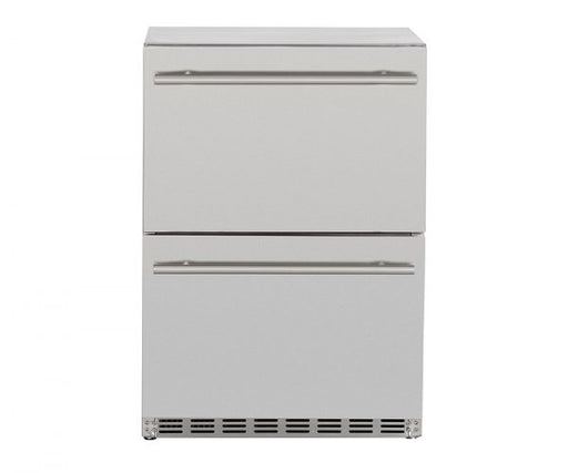 "Summerset 24"" 5.3c Deluxe Outdoor Rated 2-Drawer Refrigerator - Premier Grilling"