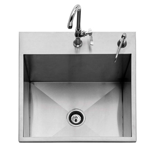 "Twin Eagles 24"" Outdoor Sink w/ S/S Cover (Faucet Not Included) - Premier Grilling"