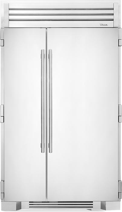 "True Residential 48"" Stainless Steel Side-By-Side Refrigerator/Freezer - Premier Grilling"