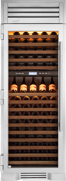 "True Residential 30"" Column 150-Bottle Dual Zone Wine Cooler w/ Glass Door - Premier Grilling"