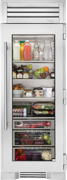 "True Residential 30"" Column All-Refrigerator w/ Glass Door - Premier Grilling"