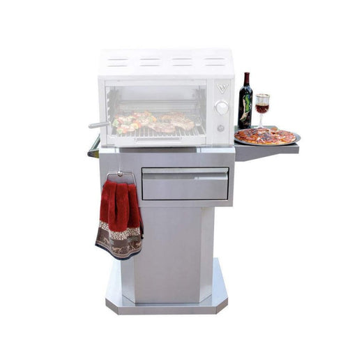 "Twin 24"" Eagles Salamangrill Pedestal Base - Premier Grilling"