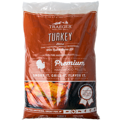 Traeger 20-lb Turkey Pellet Blend w/ Brine Kit