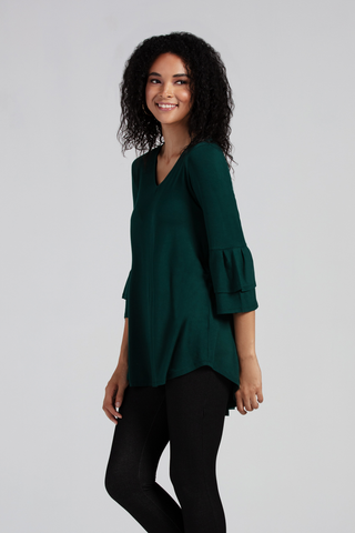 Organic Womens Tunics-Long Sleeves-Essentials-Bamboo Clothing-Eco Friendly-LNBF USA