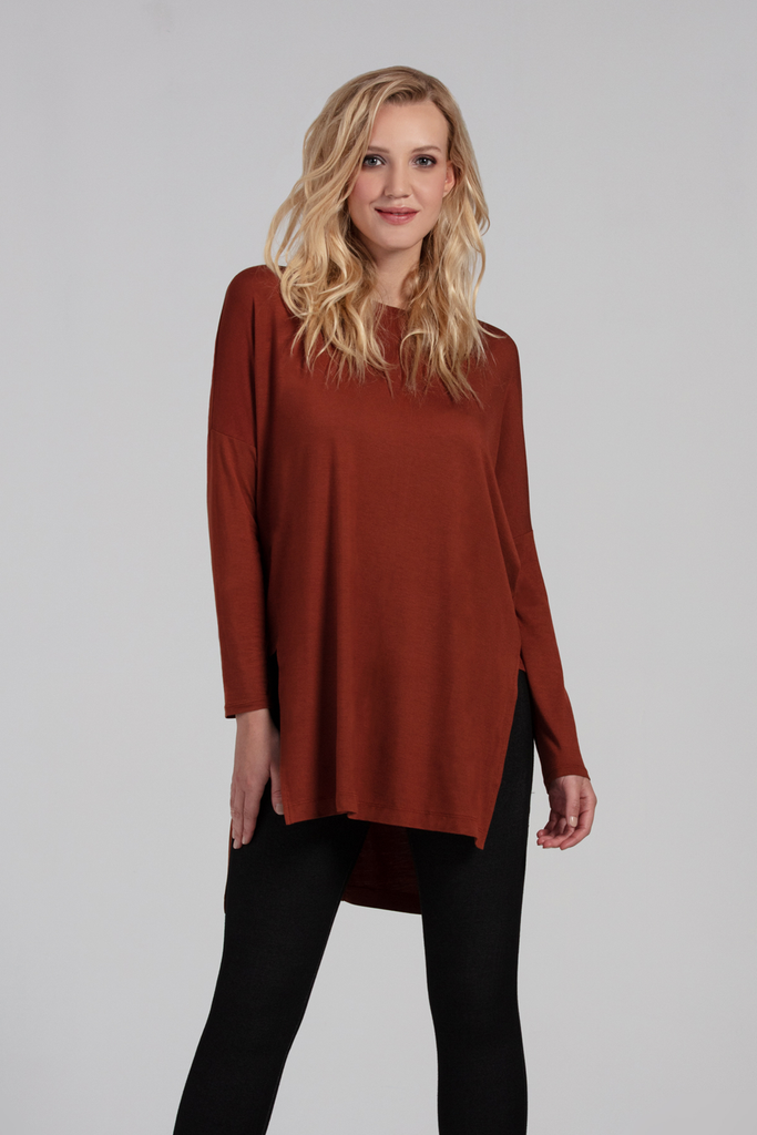 Organic Womens Tunics-Long Sleeves-Fall Essentials-Bamboo Clothing-Eco Friendly-LNBF USA