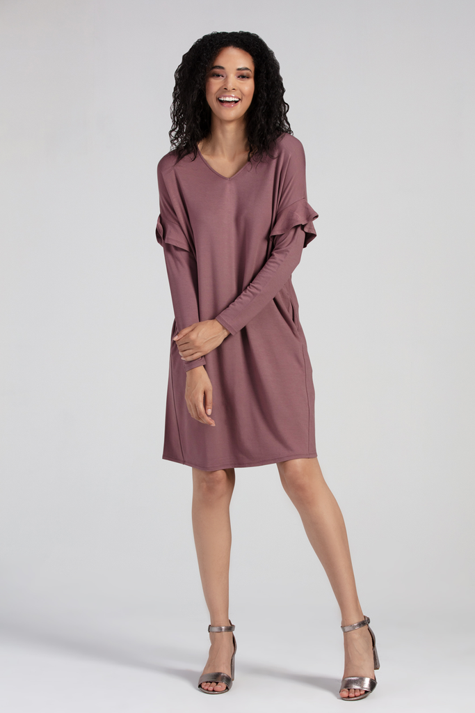 Organic Womens Dresses-Long Sleeves-Comfy-Essentials-Bamboo Clothing-Eco Friendly-LNBF USA