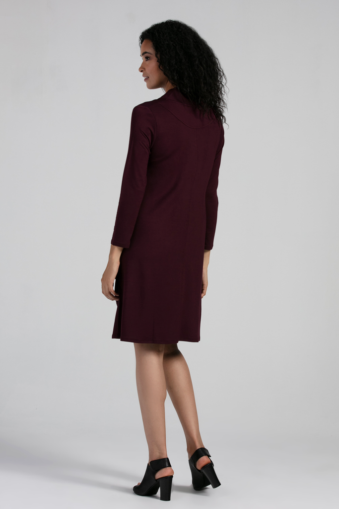 Organic Womens Dresses-Long Sleeves-Fall Essentials-Bamboo Clothing-Eco Friendly-LNBF USA