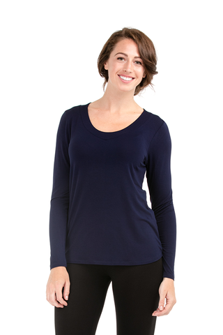 Bamboo Viscose Women Tops Canada - Maroon Pamela Long Sleeve by LNBF