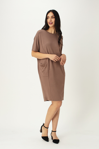 Mika Cocoon Crew Neck Dress