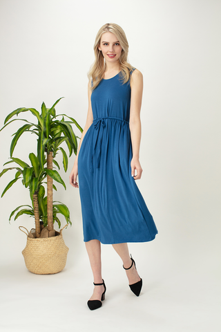 Thea Tie Waist Midi Dress