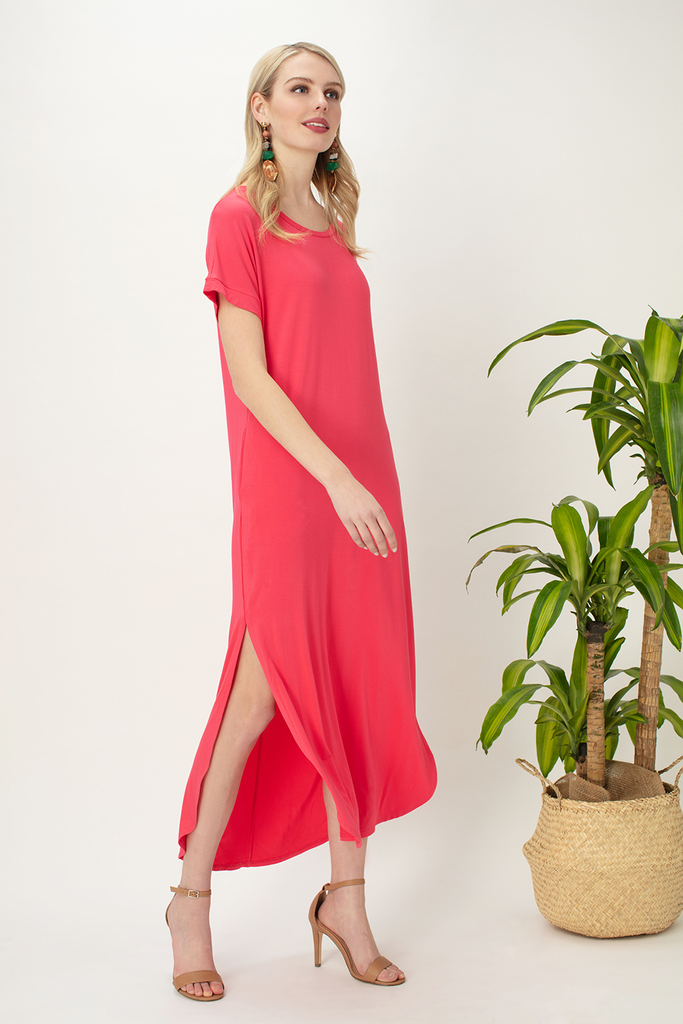 Brea Curved Hem Maxi Dress
