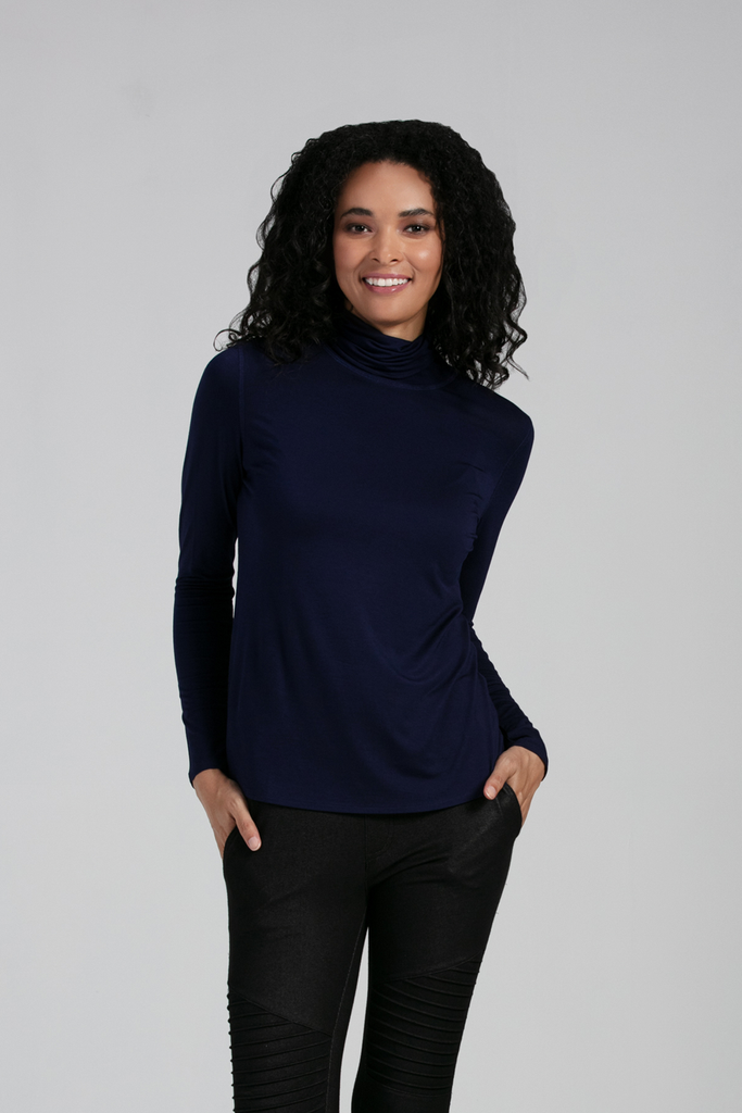 Organic Womens Tops-Long sleeves-Essentials-Bamboo Clothing-Eco Friendly-LNBF USA