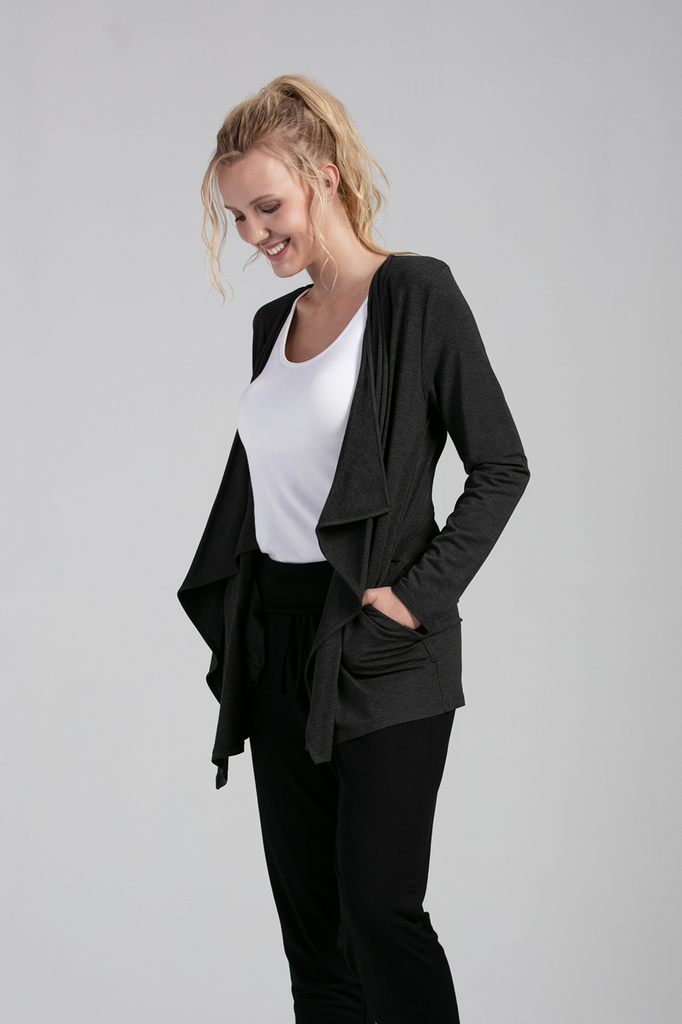 Organic Womens Cardigans-Long Sleeves-Essentials-Bamboo Clothing-Eco Friendly-LNBF USA