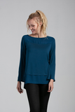 Organic Womens Tops & Blouses-Long Sleeves-Comfy-Essentials-Bamboo Clothing-Eco Friendly-LNBF USA