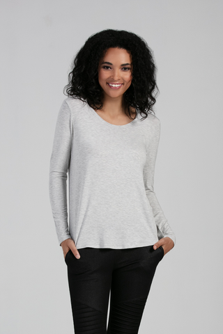 Gwen Scoop Neck Long Sleeve
