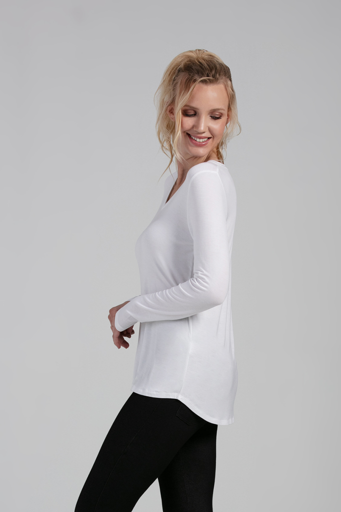 Organic Womens long sleeves-Essentials-Bamboo Clothing-Eco Friendly-LNBF USA