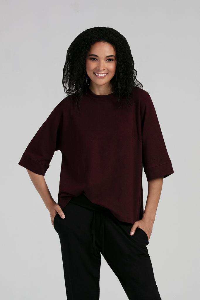 Organic Womens Tops-Fleece Essentials-Bamboo Clothing-Eco Friendly-LNBF USA