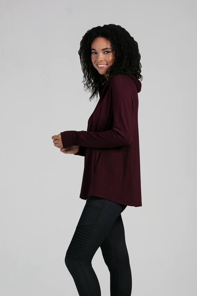 Organic Womens Cardigans-Sweaters-Hoodie-Long Sleeves-Essentials-Bamboo Clothing-Eco Friendly-LNBF USA
