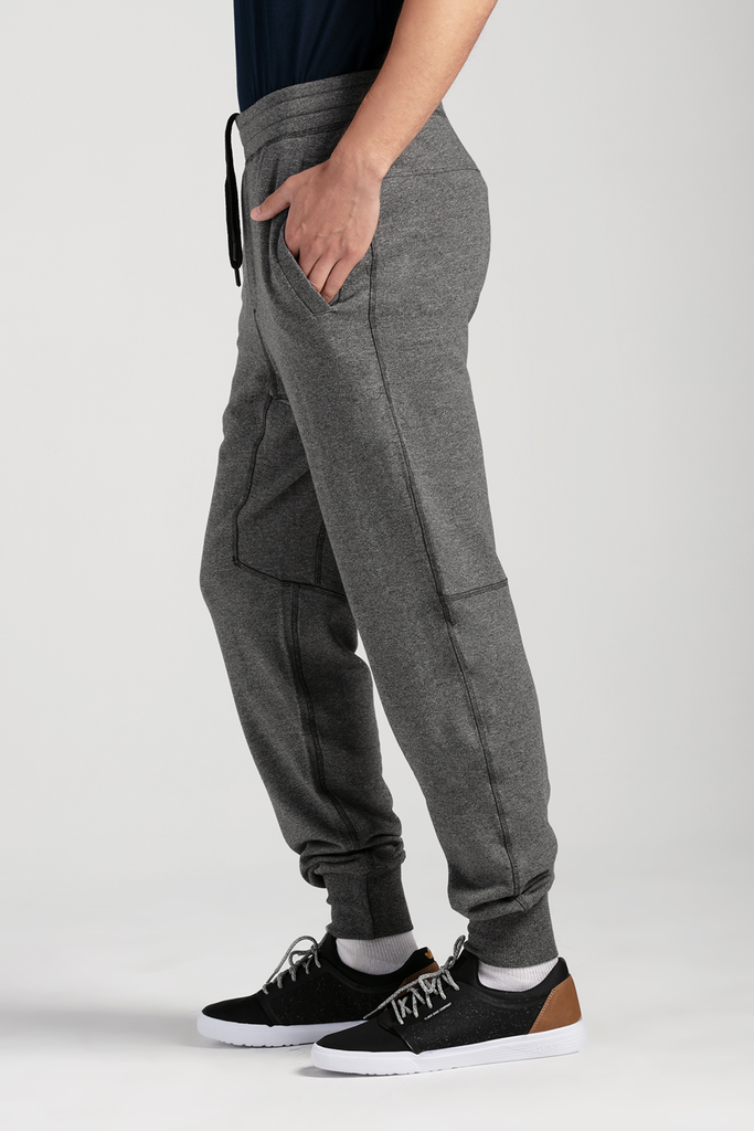 Organic Mens Joggers-Fleece Pants-Essentials-Bamboo Clothing-Eco Friendly-LNBF USA