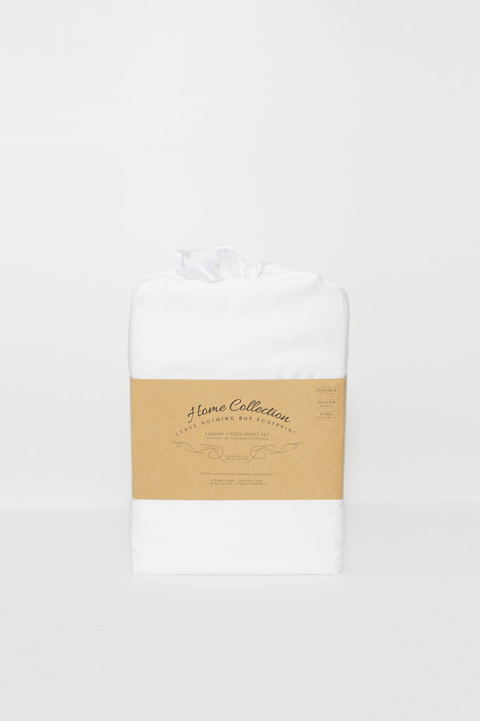 Bamboo fitted sheet and pillowcase sets-benefits of bamboo-fiber sheets-home collection-essentials bedding-LNBF USA