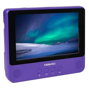 Digiland DL9002-PURPLE 2-in-1 Android Tablet + DVD Player - Quad-Core 1.3GHz 1GB 16GB 9