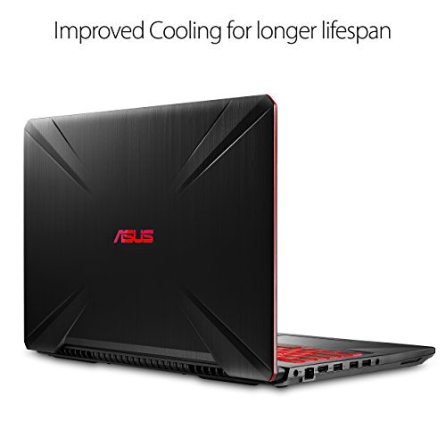 "ASUS FX504 Thin & Light TUF Gaming Laptop, 15.6"" Full HD, 8th Gen Intel Core i7-8750H Processor, GeForce GTX 1050 Ti, 8GB DDR4, 256GB M.2 SSD, Gigabit WiFi, Windows 10 - FX504GE-ES72"