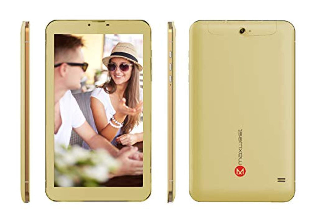 "Maxwest Nitro Phablet 9s Quad-Core 1.3GHz 1GB 8GB 9"" Touchscreen Unlocked Dual-SIM Phone/Tablet Android 8.1 (Gold)"
