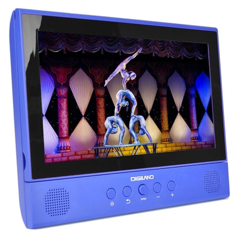 Digiland DL1001 2-in-1 Android Tablet + DVD Player - Core 1.3GHz 1GB 16GB 10.1 Touchscreen Tablet Android 7.0 (Blue) EVTK-DL1001BL-R