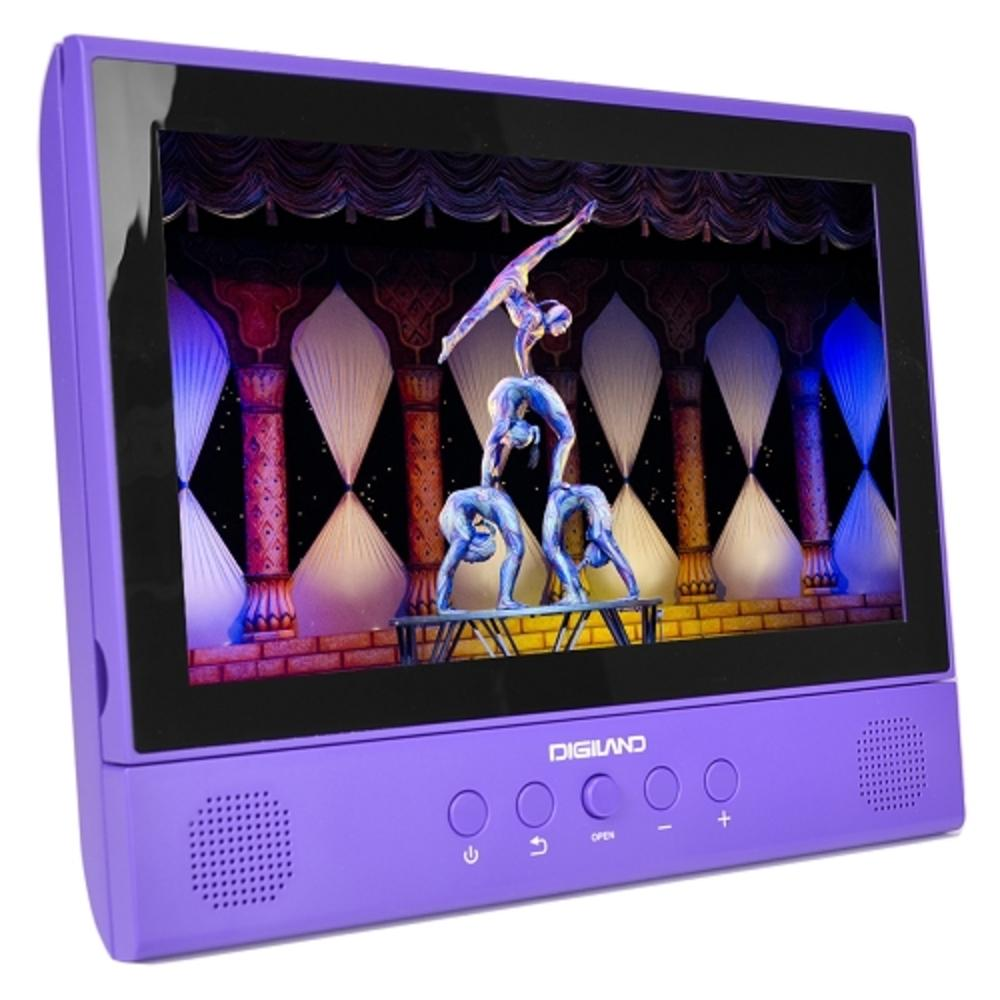Digiland DL1001 2-in-1 Android Tablet + DVD Player - Core 1.3GHz 1GB 16GB 10.1 Touchscreen Tablet Android 7.0 (Purple) EVTK-DL1001PU-R