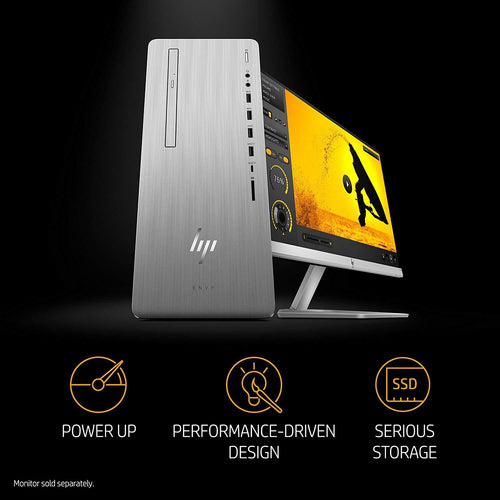 HP ENVY 795-0010 Core i5-8400 Hexa-Core 2.8GHz 12GB 1TB+256GB SSD DVD±RW Desktop PC W10H