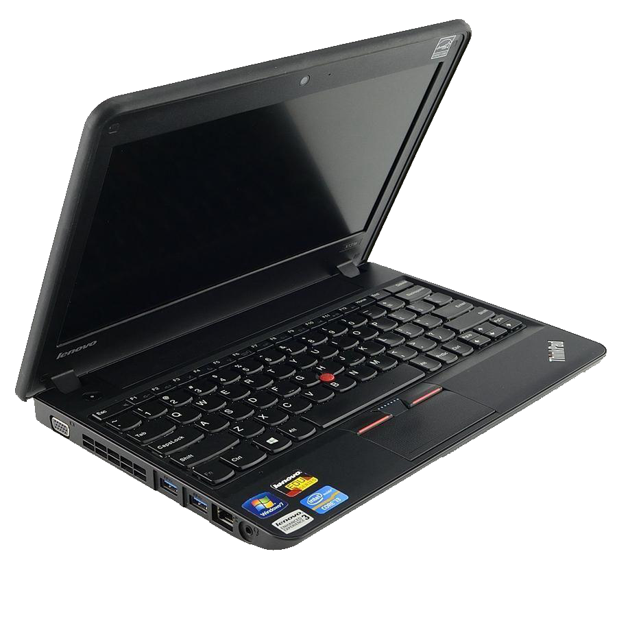Used Lenovo ThinkPad X131e Celeron 1007U Dual-Core 1.5GHz 4GB 16GB SSD 11.6 LED Chrome Notebook ( BLACK )